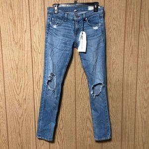 Rag & Bone, The Dre Ankle Distressed Skinny Jeans